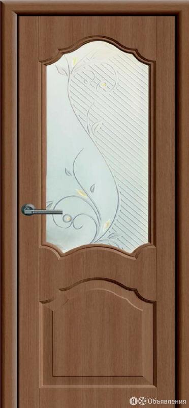ДО Канадка дуб темный жемчуг ПВХ 70 стекло Виола по цене 3022₽ - Входные двери, фото 0