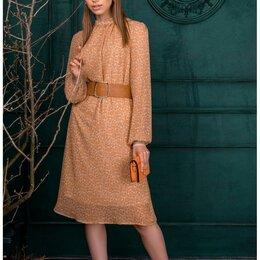 Платья - Платье 100 AMBERA горчица Модель: 100, 0