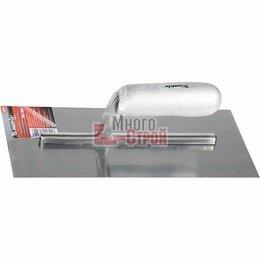 Принадлежности и запчасти для станков - Гладилка стальная, 280 х 130 мм, зеркальная полировка, деревянная ручка, 0