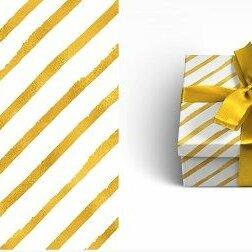 Бумага и пленка - MILAND Упаковочная бумага ЗОЛОТАЯ ДИАГОНАЛЬ 70х100см, 1 лист, 0
