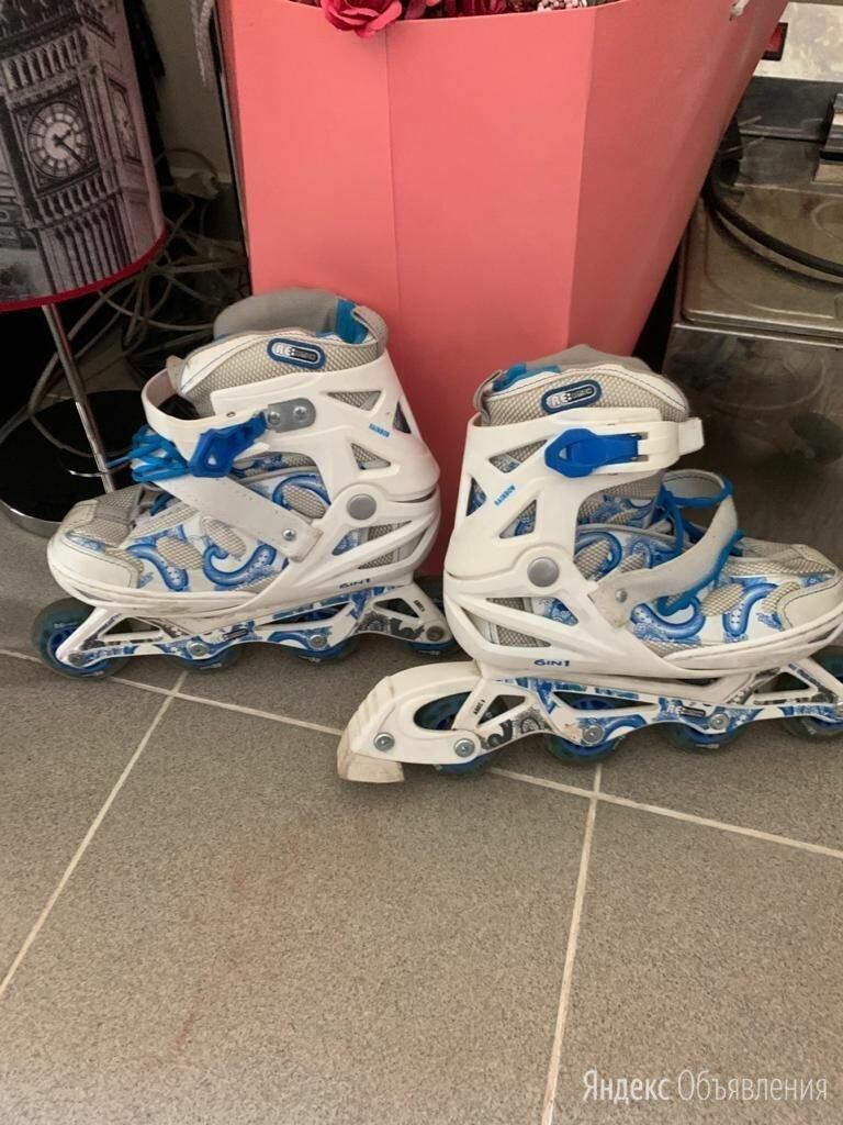 Роликовые коньки раздвижные размер 31-36 по цене 500₽ - Роликовые коньки, фото 0