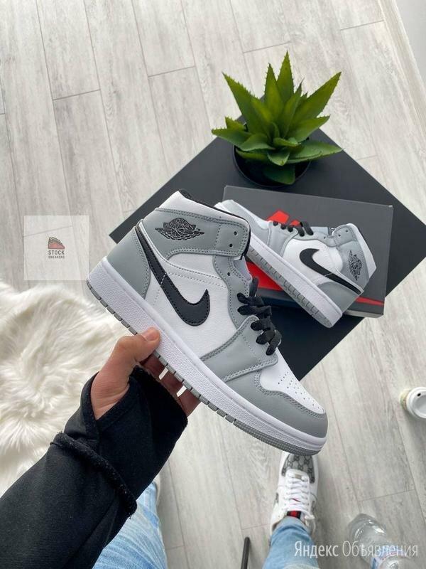 Кроссовки Nike Air Jordan 1 Grey  по цене 4690₽ - Кроссовки и кеды, фото 0