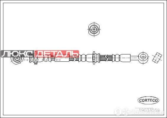 CORTECO 19033559 Тормозной шланг задний L 650mm  по цене 1601₽ - Тормозная система , фото 0