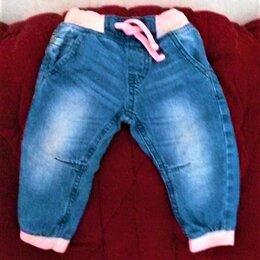 Брюки и шорты - Детские джинсы на резинке, с кулиской, 0
