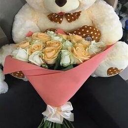 Новогодние фигурки и сувениры - 21 роза с плюшевым мишкой, 0