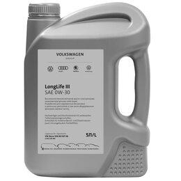 Масла, технические жидкости и химия - VAG 0W-30 5 Л МАСЛО МОТОРНОЕ LONGLIFE III, 0