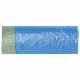 Мешки для мусора - Мешки д/мусора 20л, завязки, в рулоне 20шт, синие 45х52см Лайма, 0