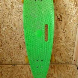 Скейтборды и лонгборды - Лонгборд зеленый с желтыми колесами 36 дюймов, 0