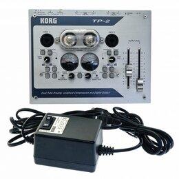 Оборудование для звукозаписывающих студий - Korg TP2 ламповый двухканальный предусилитель USED, 0