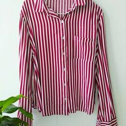 Блузки и кофточки - Полосатая рубашка хлопок размер 44, S, 0
