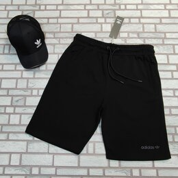 Шорты - Шорты трикотажные Adidas черные мужские, 0
