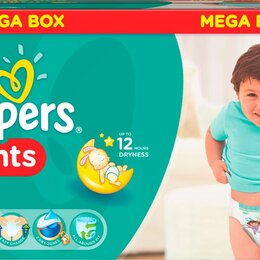 Средства для интимной гигиены - PAMPERS PANTS Подгузники-трусики EXTRA LARGE 15+ кг    Коробка, 0