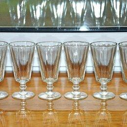 Рюмки и стопки - Лафитники стеклянные 50 мл. с клеймом ДХЗ  6 шт.  до 1961 года, 0