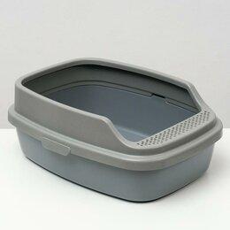 Туалеты и аксессуары  - Туалет Айша M с бортом 53 х 39 х 21 см серый FIX, 0