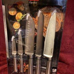 Ножи кухонные - Набор кухонных ножей tefal expertise (5 ножей) k121s575, 0