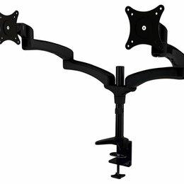 """Кронштейны, держатели и подставки - Кронштейн для мониторов Cactus CS-VM-FE124D-BK черный 15""""-27"""" макс.8кг настол..., 0"""