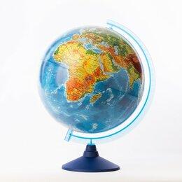 Глобусы - Глoбус физико-политический 'Классик Евро', диаметр 320 мм, с подсветкой от ба..., 0