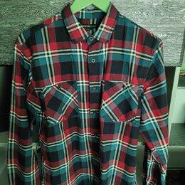 Рубашки - Клетчатая рубашка мужская, 0
