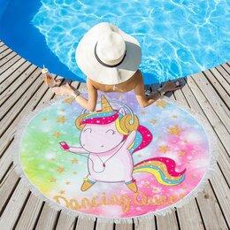 Туалетная бумага и полотенца - Полотенце пляжное Этель 'Танцы', d 150см, 0