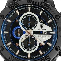 Наручные часы - Мужские часы кварцевые Tigershark Хронограф, 0