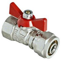 Краны для воды - Краны VALTEC Кран шаровый для MP труб под обжим Valtec Basic Ду-16х1/2 внутре..., 0