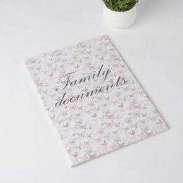 Обложки для документов - Папка для семейных документов, 3 комплекта, цвет розовый, 0