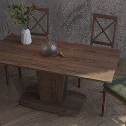 Столы и столики - Стол обеденный раздвижной Азалия-3 (дуб табачный/антрацит), 0