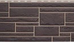 Фасадные панели - Панель Камень, Жжёный, 1130х470мм, 0