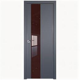 Межкомнатные двери - Межкомнатные двери Profil Doors 5E Антрацит Стекло Lacobel Коричневый лак Кро..., 0