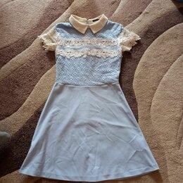 Платья и сарафаны - Платье для девочки с кружевом, 0