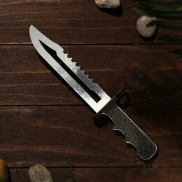 Игрушечное оружие и бластеры - Сувенир деревянный «Штык нож», серое лезвие, 0