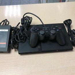 Игровые приставки - Игровая приставка Sony PS2 чипованная б/у, 0