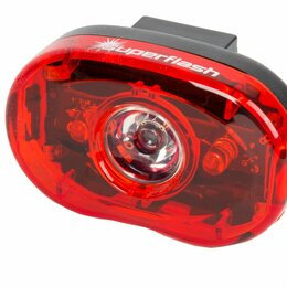 Фонари - Фонарь задний для велосипеда SMART 3 диода-0.5W/2 функции красный с батареями , 0