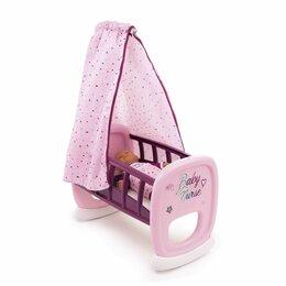 Игрушечная мебель и бытовая техника - Колыбель Smoby Baby Nurse для пупса 220338, 0