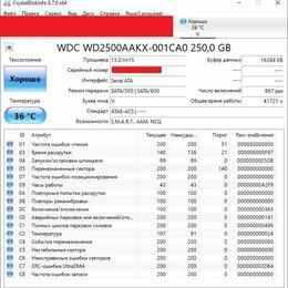"Жёсткие диски и SSD - HDD 3.5"" WD blue 250gb SATA, 0"