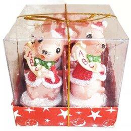 Декоративные свечи - Свеча Мышка в костюме санты 779 8,5см (оптом - 4 ш, 0
