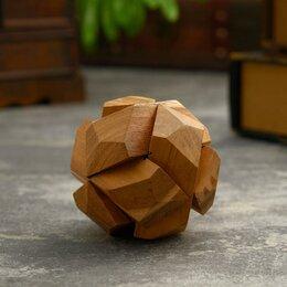 """Головоломки - Головоломка из дерева """"Марс"""" 6 частей 8х8х8 см, 0"""