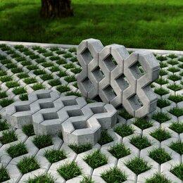 Садовые дорожки и покрытия - Бетонная газонная решётка 100*400*600, 0