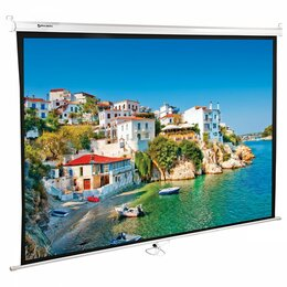 Экраны - Настенный проекционный экран BRAUBERG WALL, 0