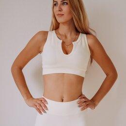 Спортивные костюмы - Белый спортивный костюм для фитнеса , 0