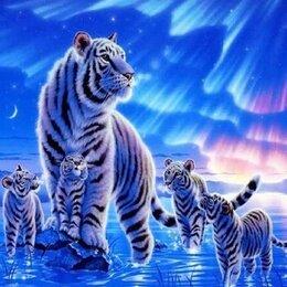 Дизайн, изготовление и реставрация товаров - Картина по номерам 40*50 см Белые тигры, 0