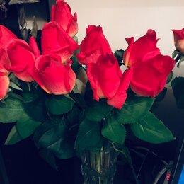 Искусственные растения - Розы искусственные как натуральные, 0
