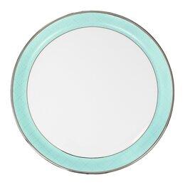 Блюда, салатники и соусники - Блюдо фарфоровое 31 см голубое Dom, 0