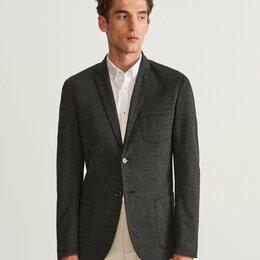 Пиджаки - Пиджак костюмный Новый Slim Fit серый не мнется, 0