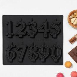 Формы для льда и десертов - Форма для шоколада 'Цифры-свечи', 25,5x21,5 см, 0