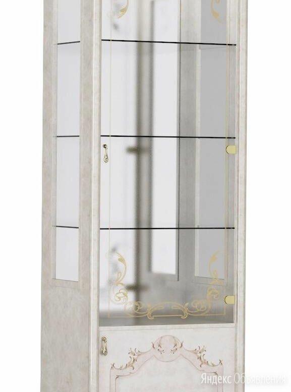 Витрина 1-дверная Роза размеры 2330x780x465 мм беж по цене 28500₽ - Кровати, фото 0