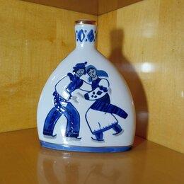 """Посуда - Винтажный штоф-графин-фляга """"Танцующие гуцулы"""" из 60-х Коростень, 0"""