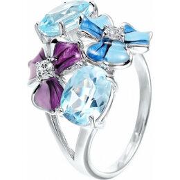 Комплекты - Element47 кольцо серебро вес 5,28 вставка эмаль, топаз, фианит арт. 742886, 0