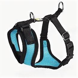 Шлейки  - HUNTER шлейка для собак MANOA S (38-47 см) нейлон/сетчатый текстиль голубой , 0