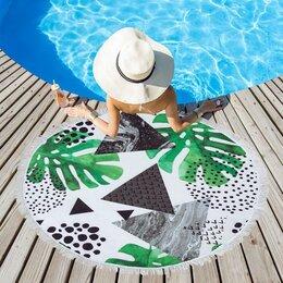 Туалетная бумага и полотенца - Полотенце пляжное Этель 'Тропики', d 150см, 0
